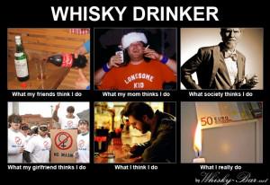 Whisky Drinker, what I do