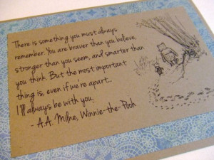 Always Remember - Winnie the Pooh Quote - Classic Piglet and Pooh Note ...