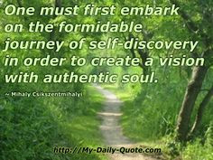 The journey of self discovery... #quotes #mydailyquote More