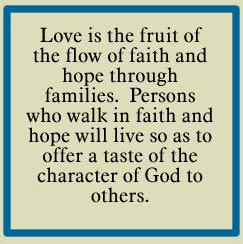 RECONCILIATION: THE FRUIT OF FAMILIAL LOVE