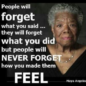 Maya Angelou, teaching, emotions