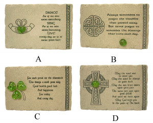 ... Wall Art Pack Of 8 Irish Blessing Faithstone Home Decor Plaques #47712