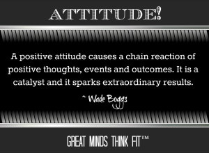 Attitude Quote by Wade Boggs