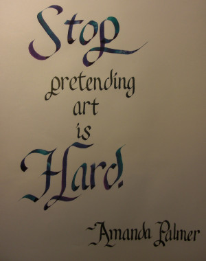 quotes Typography Neil Gaiman calligraphy amanda palmer AFP 6.0 mm ...