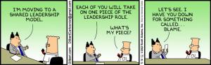 leadership shared leadership blame games laugh education humor dilbert ...