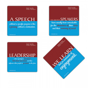 ... and public speaking quotes by Founder of Toastmasters Dr Ralph Smedley