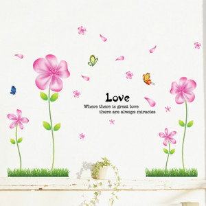 5set/lot Wholesale Love Quotes With Beautiful Flowers Transparent PVC ...