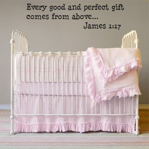 Every Good and Perfect gift Christian wall quote decals [Kitchen]