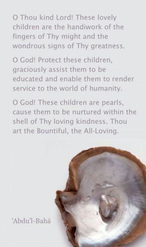 Baha'i Prayer for children Children's prayer
