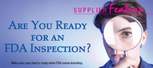 After our recent very informative Webinar on FDA inspection tips , we ...