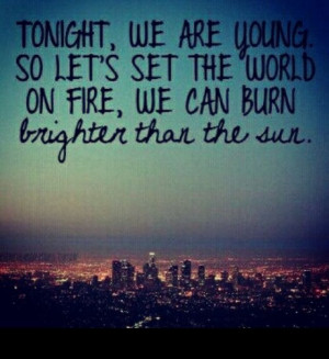 We are young lyrics quote