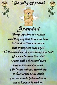 Rest In Peace Grandpa Poems Any relatve poem grandad