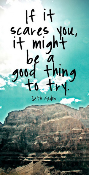 "If it scares you, it might be a good thing to try"" – Seth Godin"