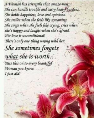 woman's strength...