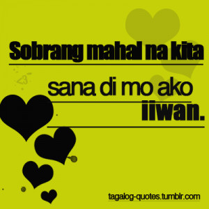 Sad Love Quotes Tagalog Tumblr