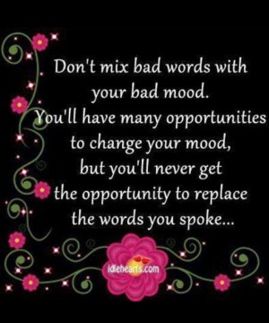 Words spoken