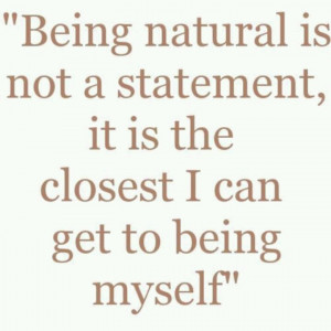 Being natural