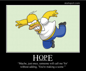 Homer Simpson Motivational Poster Hope
