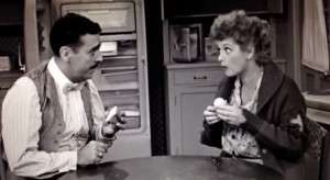 Tennessee Ernie hangs on - Ernie and Lucy eating in the kitchen, as ...