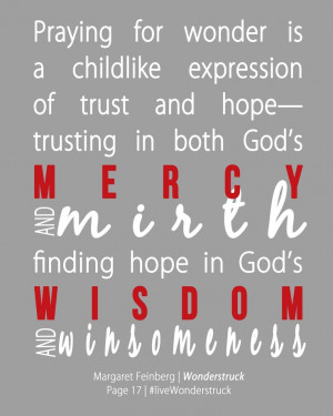 of trust and hope-- trusting in both God's mercy and mirth, finding ...