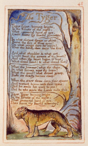 The Tyger, William Blake (from Songs of Experience), 1794