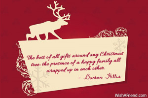 ... Christmas tree: the presence of a happy family all wrapped up in each