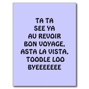 Bon Voyage Post Cards