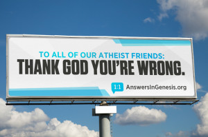 Anti-atheism billboards in Times Square and San Francisco