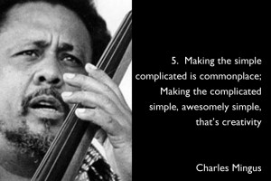 Go Back > Gallery For > Charles Mingus Quotes