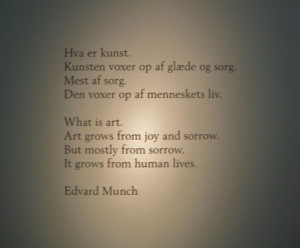 Edvard Munch Quotes in Museum, Oslo