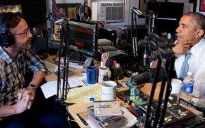 Marc Maron in his garage with Barack Obama Photo: Marc Maron/Instagram