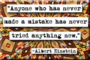 Albert Einstein Mistakes Quote Magnet or Pocket Mirror (no.144)