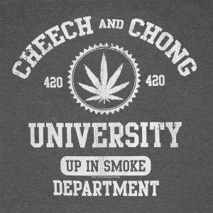 Cheech And Chong University Up In Smoke Gray Graphic Tee Shirt