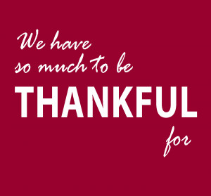 What We're Thankful for This Week