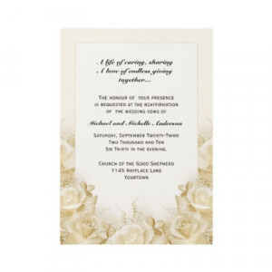 wedding+vows_sepia_roses_wedding_vow_renewal_invitation ...