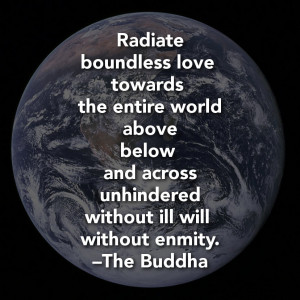 Radiate boundless love towards the entire world — above, below, and ...