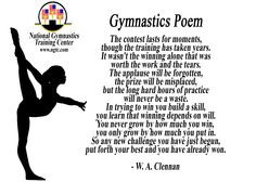 Gymnastics Coach Thank You Poems