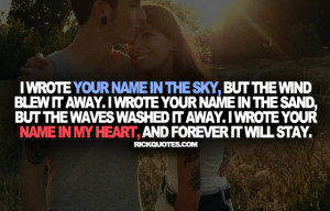 Love Quotes   Your Name In The Sky Couple Love hug Fun Kiss Romantic ...