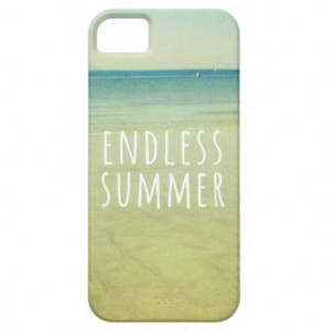 Endless Summer Quotes Vintage Beach Photo Cool iPhone 5 Case