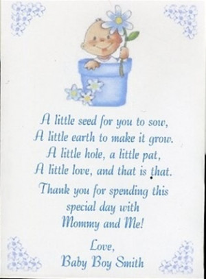 seed poems for babyshower | Baby Shower Seed Packet Favor