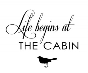 ... QUOTES! > Summer Fun > Life begins AT THE CABIN - 11.25