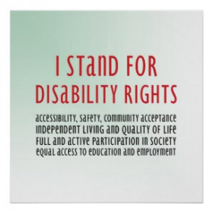 ... stand for disability rights poster by inamar browse disability posters