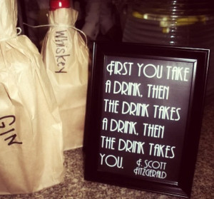 Fitzgerald Quote Sign - Whiskey Bar, Wedding, Reception, Roaring 20s ...