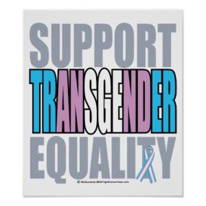 Support Transgender Equality Print