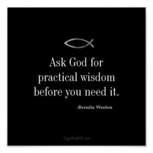 Ask God Inspirational Quotes Keys for Discipline Poster. Excerpt taken ...