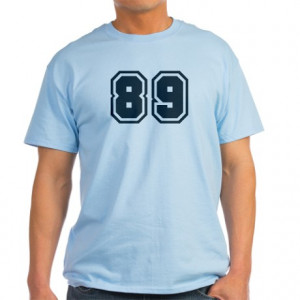 Age Gifts > Age Mens > Number 89 Light T-Shirt