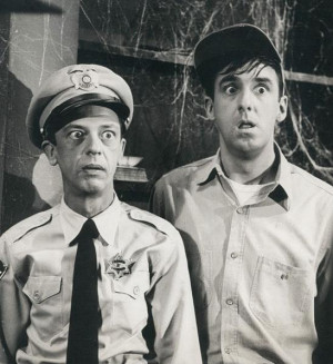 Barney Fife Gomer Pyle in Andy Griffith Show