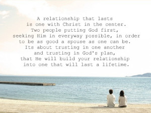 Put God in the center of your relationship