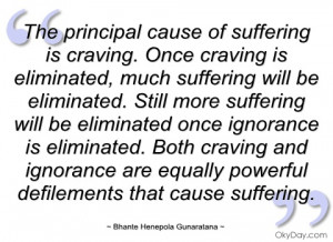 the principal cause of suffering is