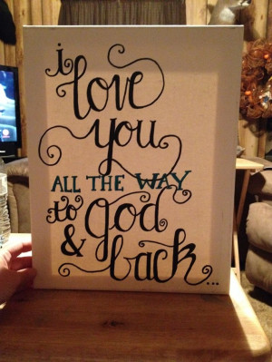Love quote canvas